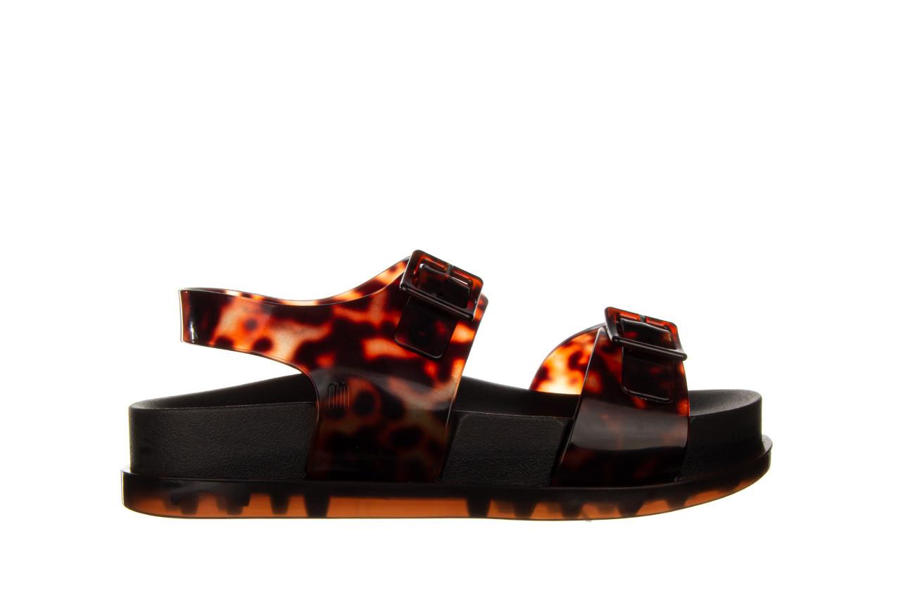 Sandały melissa wide platform ad black turtoise 010362, czarny/ brąz, guma - nowości 8