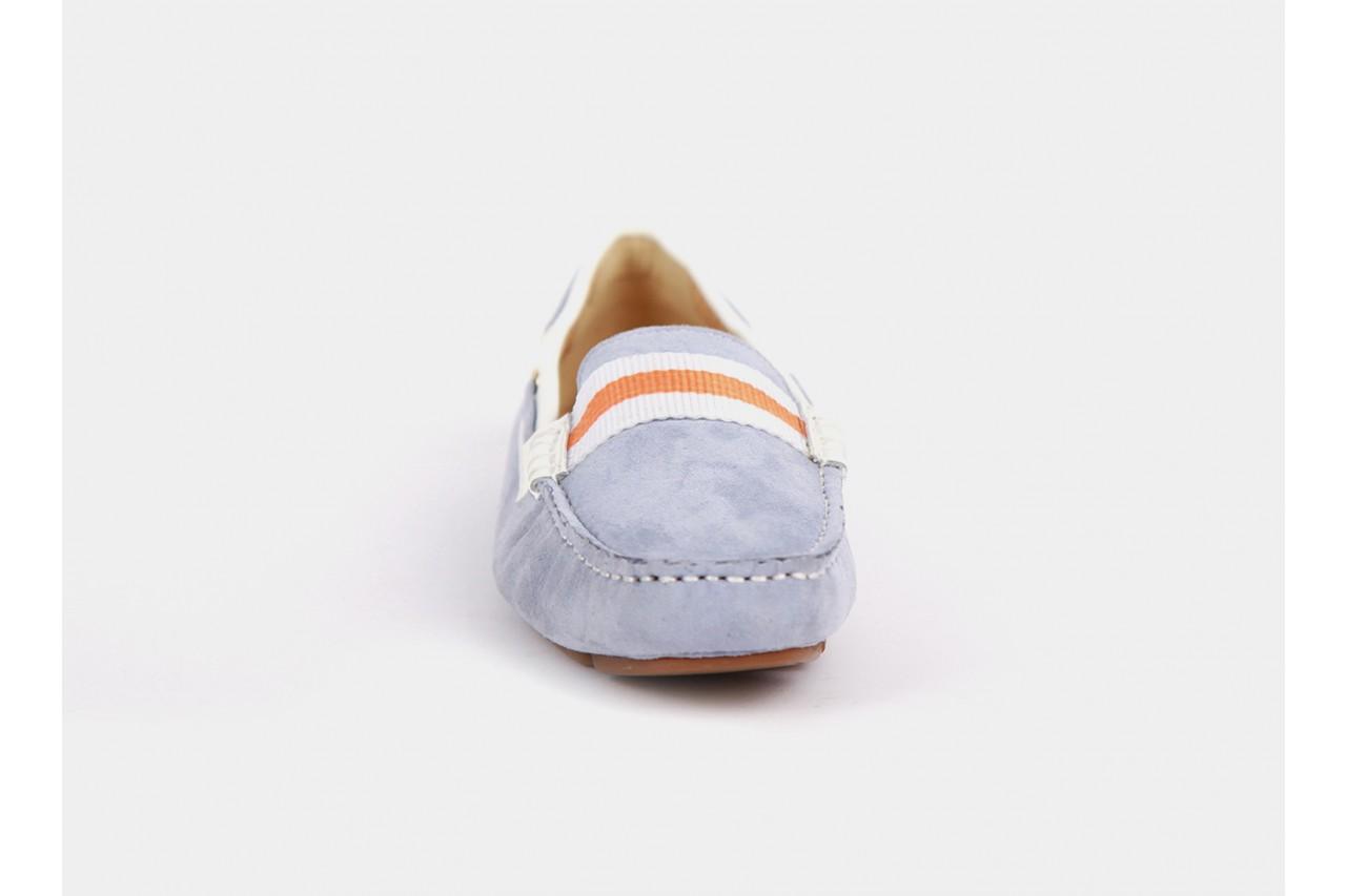 Bayla 1121-37 lt. blue kid suede white emboss - bayla - nasze marki 10