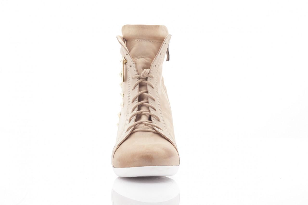 Sneakersy top but 805-4 beż, skóra naturalna 6