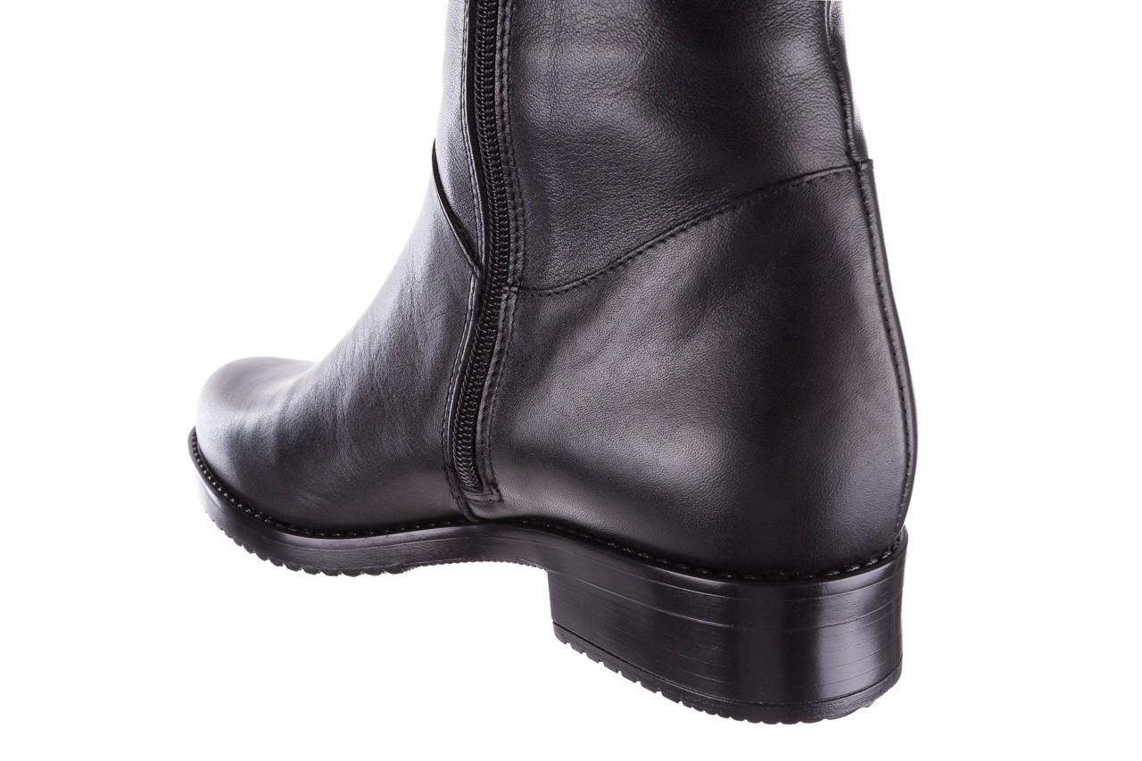 Kozaki bayla-056 4086-08 czarny, skóra naturalna - kozaki - buty damskie - kobieta 12