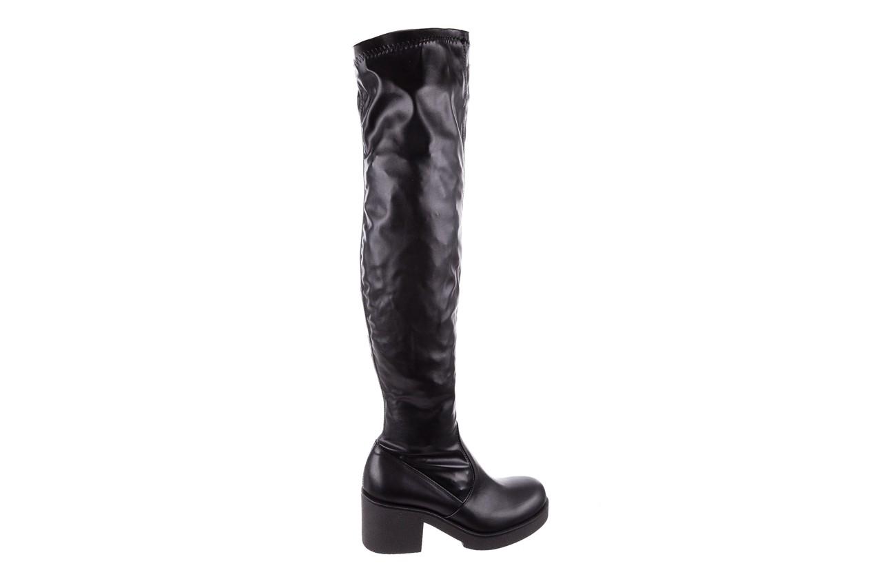 Kozak bayla-056 6016-08 czarny stretch, skóra ekologiczna - na obcasie - kozaki - buty damskie - kobieta 7