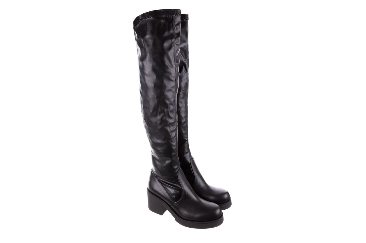 Kozak bayla-056 6016-08 czarny stretch, skóra ekologiczna - na obcasie - kozaki - buty damskie - kobieta 8