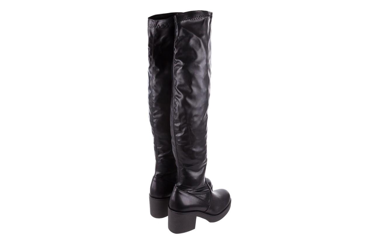 Kozak bayla-056 6016-08 czarny stretch, skóra ekologiczna - na obcasie - kozaki - buty damskie - kobieta 10