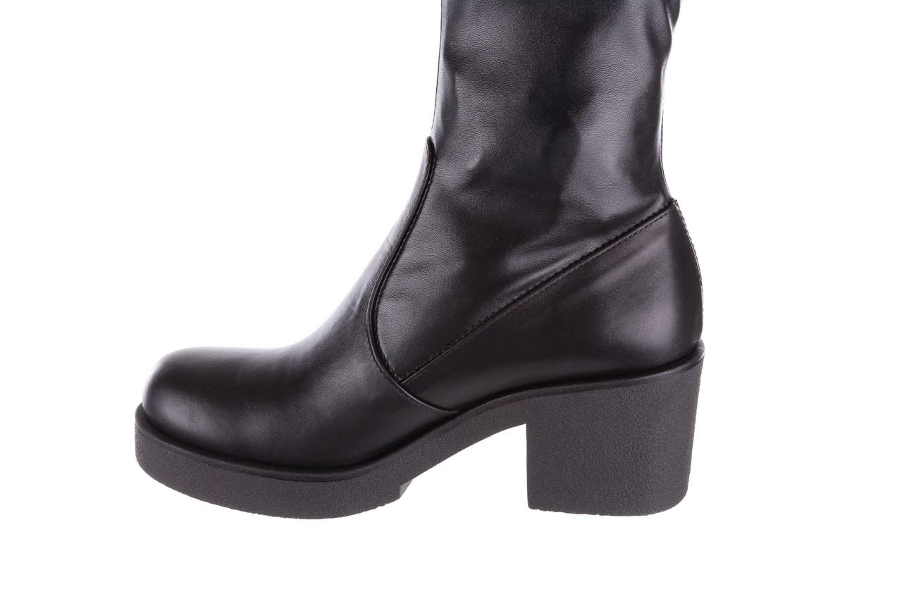 Kozak bayla-056 6016-08 czarny stretch, skóra ekologiczna - na obcasie - kozaki - buty damskie - kobieta 11