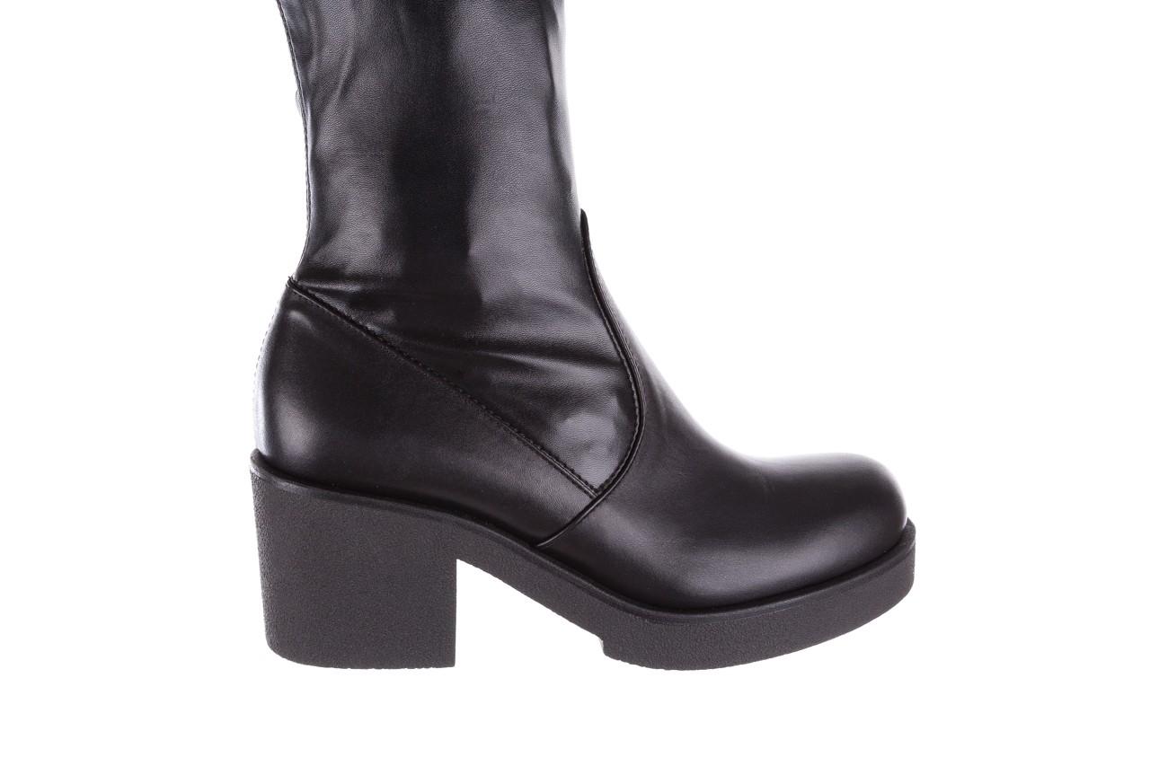 Kozak bayla-056 6016-08 czarny stretch, skóra ekologiczna - na obcasie - kozaki - buty damskie - kobieta 12