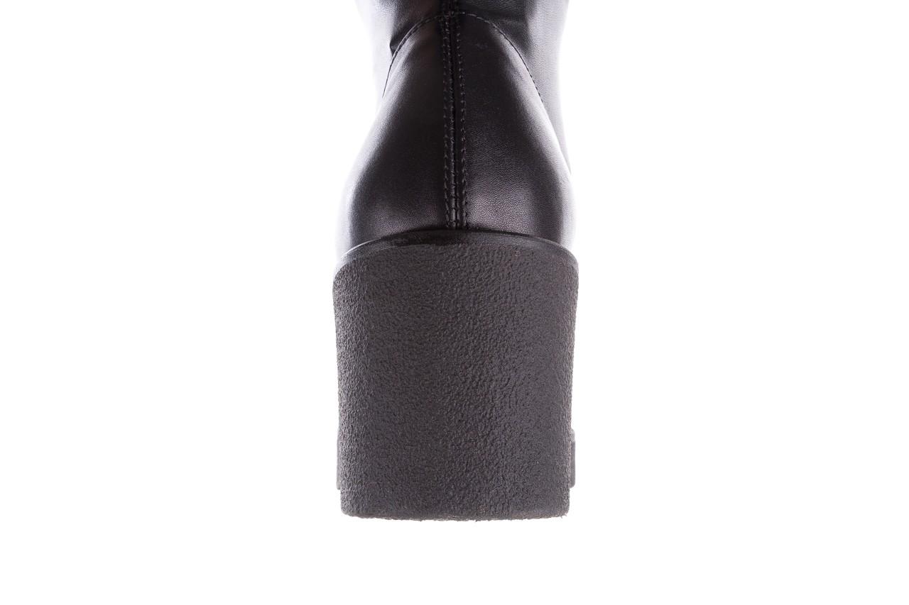 Kozak bayla-056 6016-08 czarny stretch, skóra ekologiczna - na obcasie - kozaki - buty damskie - kobieta 13