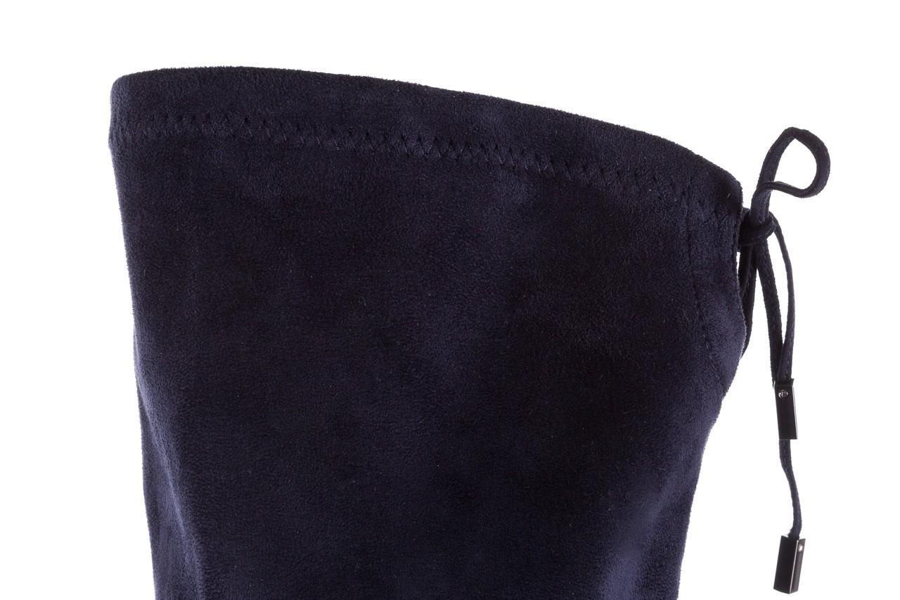 Kozaki bayla-056 9058-1094 granatowy stretch bieżnikowany obcas, skóra ekologiczna - kozaki - buty damskie - kobieta 13