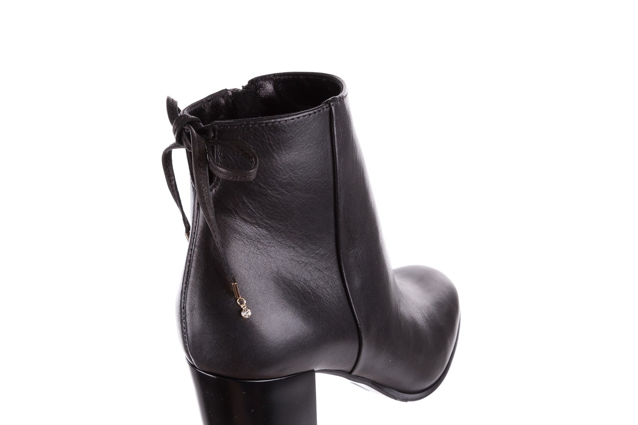 Botki bayla-056 9086-08 czarne, skóra naturalna - skórzane - botki - buty damskie - kobieta 13