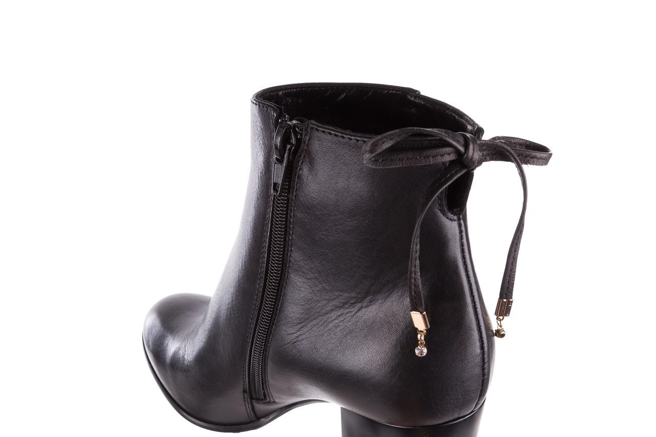 Botki bayla-056 9086-08 czarne, skóra naturalna - skórzane - botki - buty damskie - kobieta 14