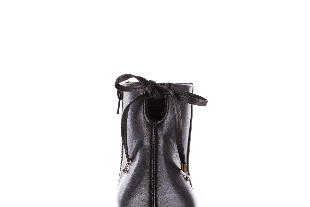 Botki bayla-056 9086-08 czarne, skóra naturalna - skórzane - botki - buty damskie - kobieta 15