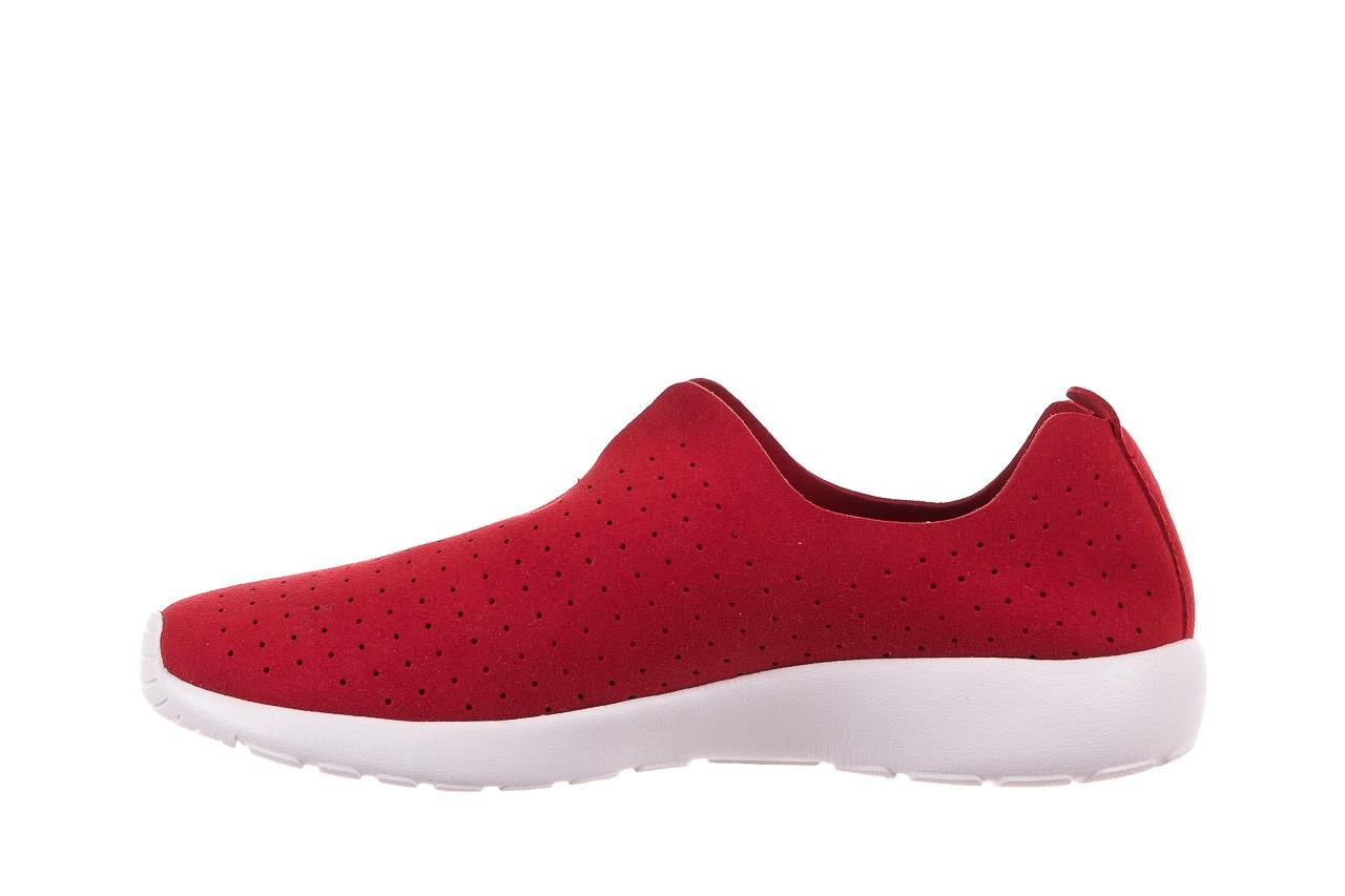 Półbuty rock mantova red, czerwony, materiał  - półbuty - dla niej  - sale 8