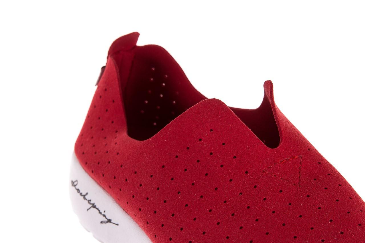 Półbuty rock mantova red, czerwony, materiał  - półbuty - dla niej  - sale 10