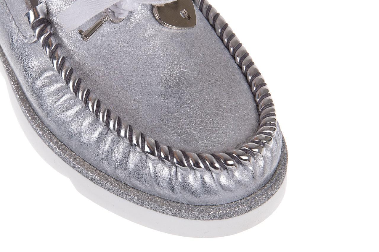 Mokasyny bayla-099 00750 srebro vs14, skóra naturalna  - bayla - nasze marki 12