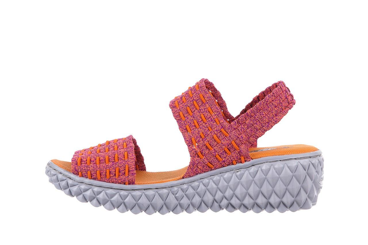 Sandały rock roxana andromeda, róż, materiał  - rock - nasze marki 8