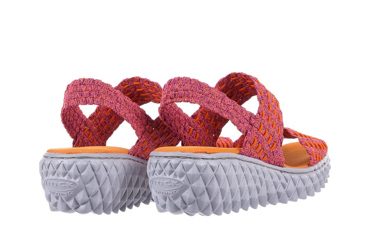 Sandały rock roxana andromeda, róż, materiał  - rock - nasze marki 9