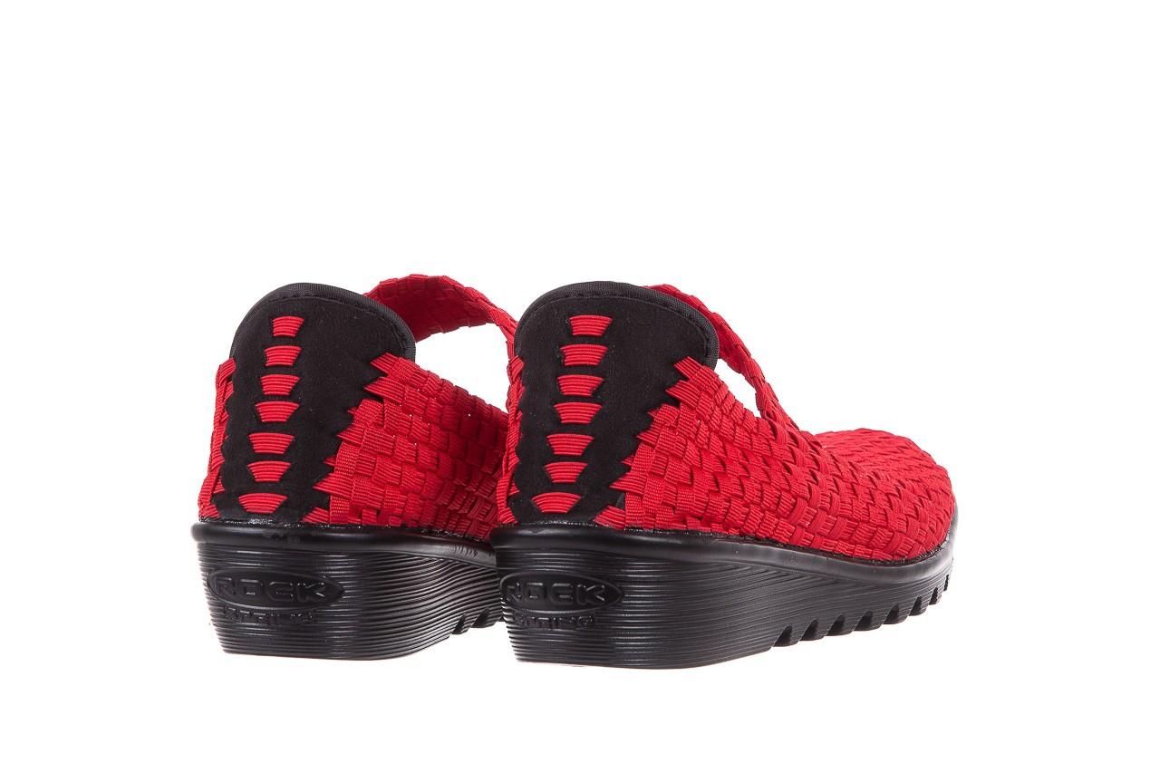 Półbuty rock brixton red, czerwony, materiał  - rock - nasze marki 9