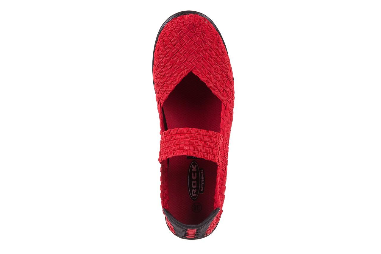 Półbuty rock brixton red, czerwony, materiał  - rock - nasze marki 10
