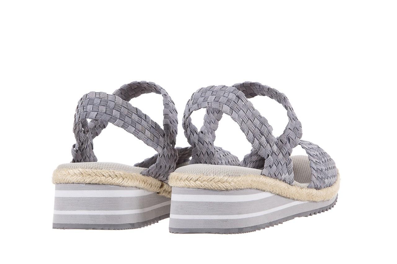 Sandały rock maracuja grey, szary, materiał - rock - nasze marki 9
