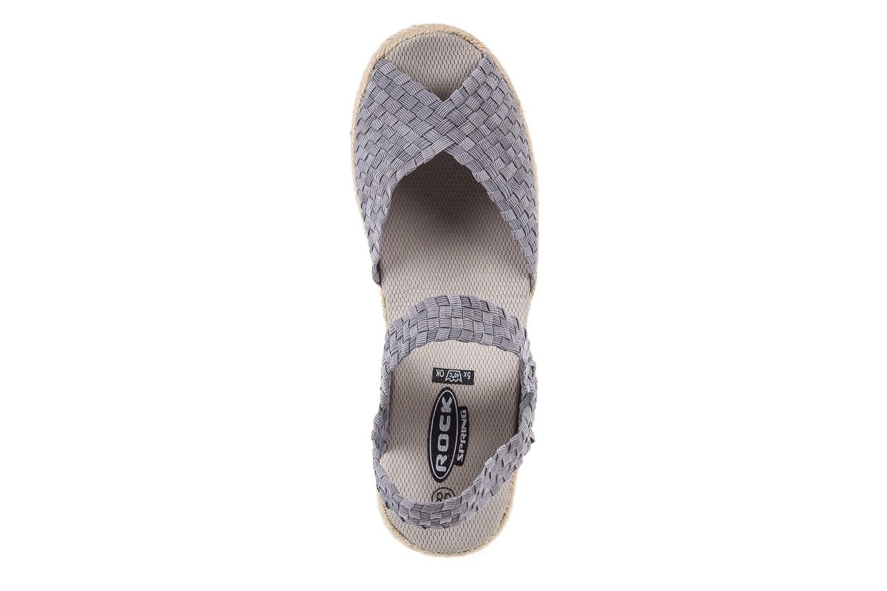 Sandały rock maracuja grey, szary, materiał - rock - nasze marki 11