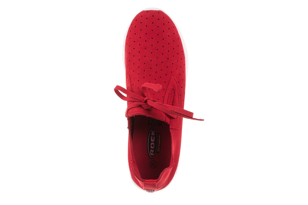 Półbuty rock mistrale red, czerwony, materiał  - obuwie sportowe - buty damskie - kobieta 11
