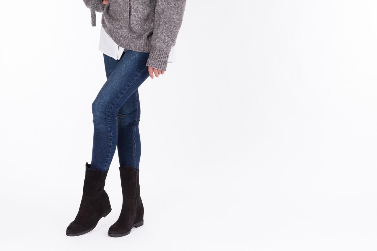Botki bayla-174 mi3145 czarny zamsz, skóra naturalna  - zamszowe - botki - buty damskie - kobieta 10