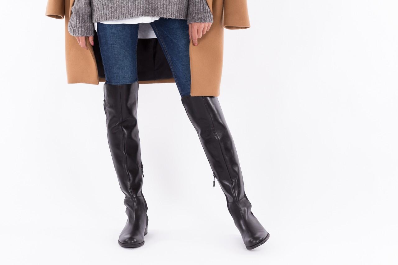 Kozaki bayla-174 mh0490 czarne lico, skóra naturalna - płaskie - kozaki - buty damskie - kobieta 12