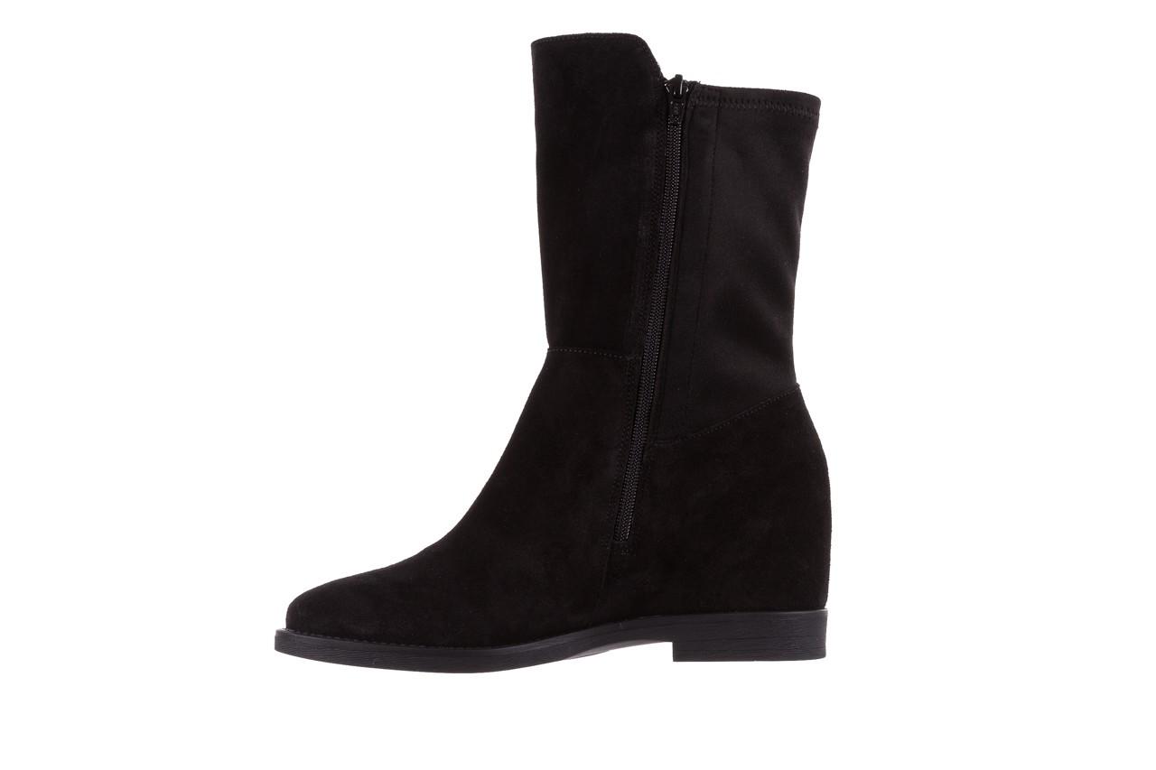 Botki bayla-174 mi3145 czarny zamsz, skóra naturalna  - zamszowe - botki - buty damskie - kobieta 11