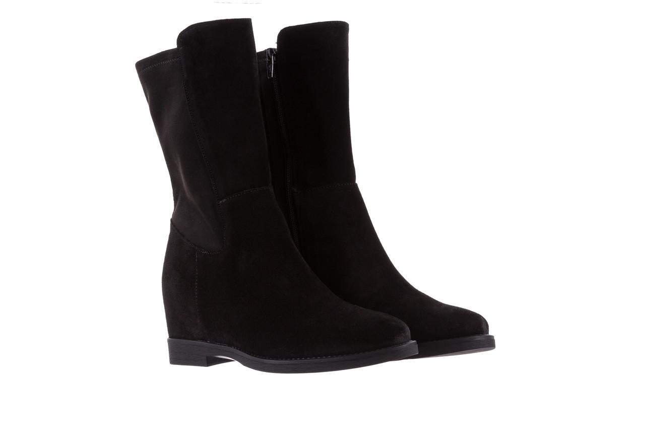 Botki bayla-174 mi3145 czarny zamsz, skóra naturalna  - zamszowe - botki - buty damskie - kobieta 9
