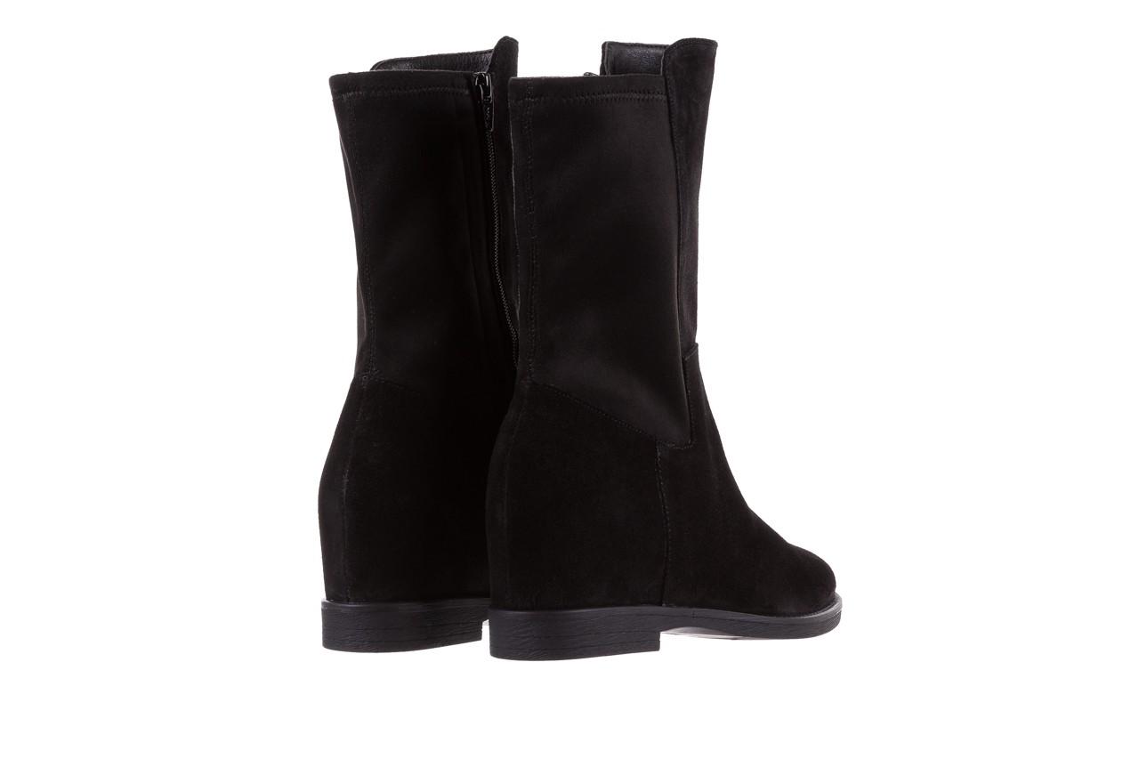 Botki bayla-174 mi3145 czarny zamsz, skóra naturalna  - zamszowe - botki - buty damskie - kobieta 12