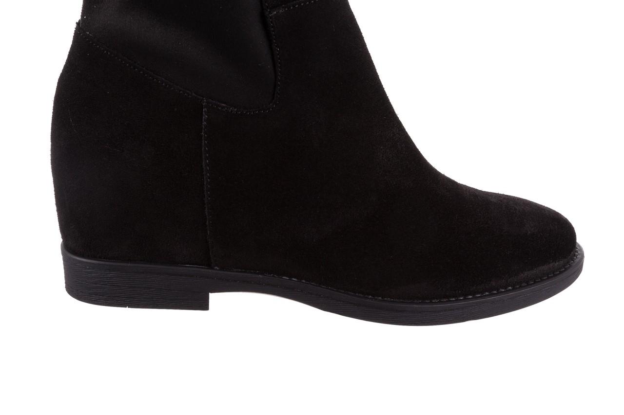 Botki bayla-174 mi3145 czarny zamsz, skóra naturalna  - zamszowe - botki - buty damskie - kobieta 14