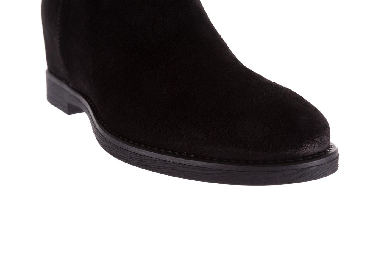 Botki bayla-174 mi3145 czarny zamsz, skóra naturalna  - zamszowe - botki - buty damskie - kobieta 13
