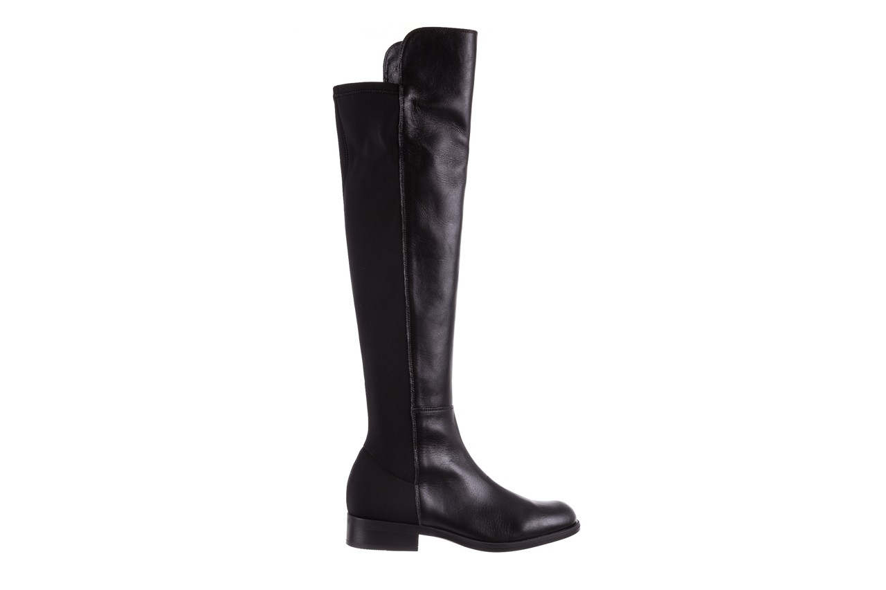 Kozaki bayla-174 mh0490 czarne lico, skóra naturalna - płaskie - kozaki - buty damskie - kobieta 10