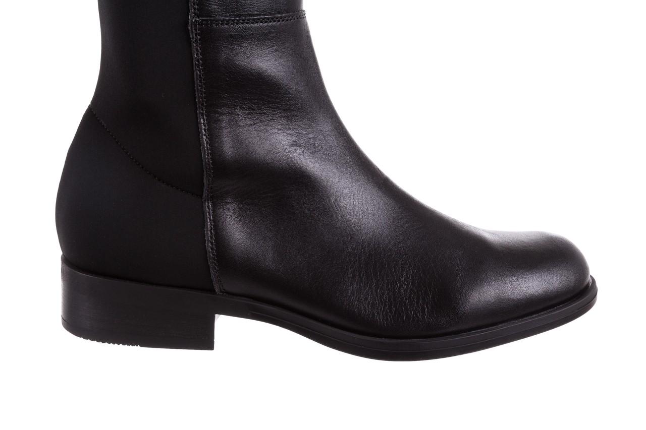 Kozaki bayla-174 mh0490 czarne lico, skóra naturalna - płaskie - kozaki - buty damskie - kobieta 17