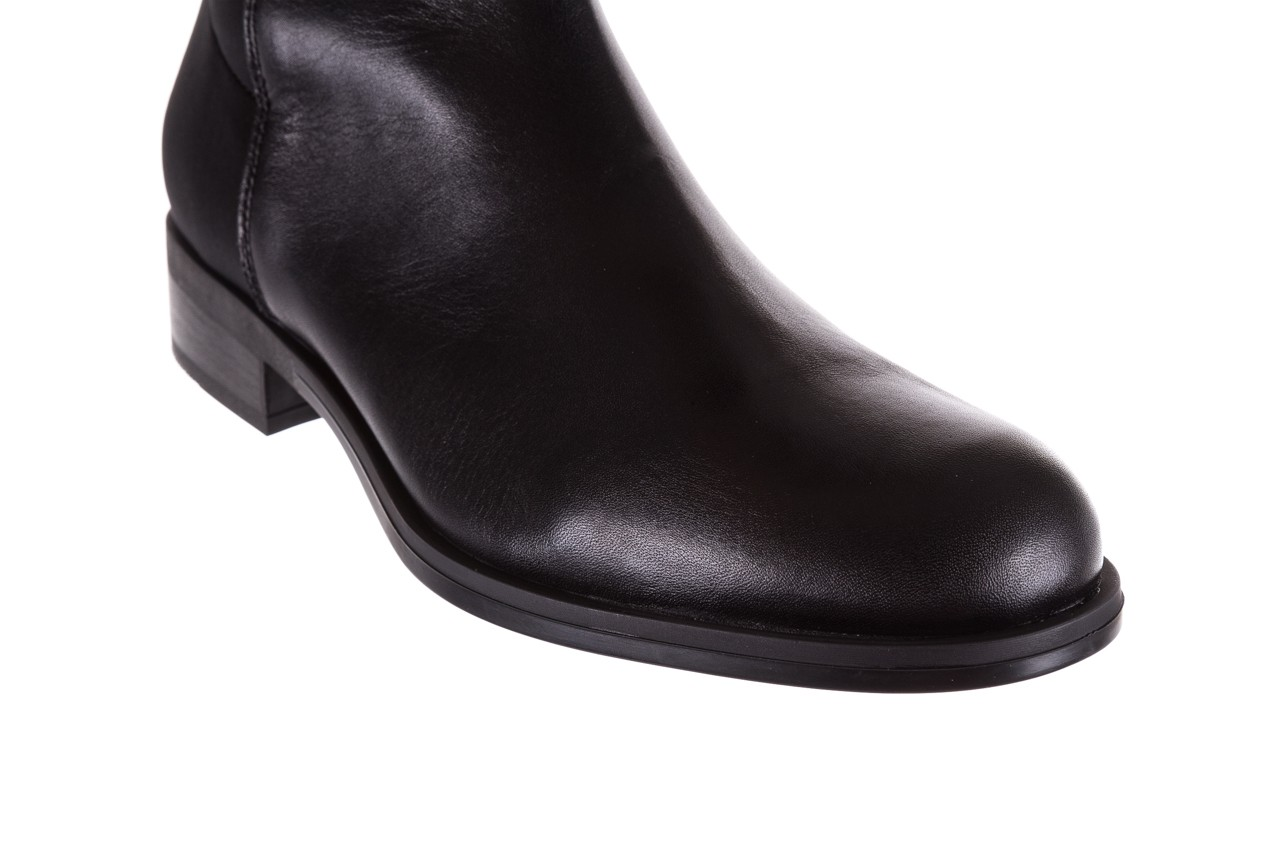 Kozaki bayla-174 mh0490 czarne lico, skóra naturalna - płaskie - kozaki - buty damskie - kobieta 15