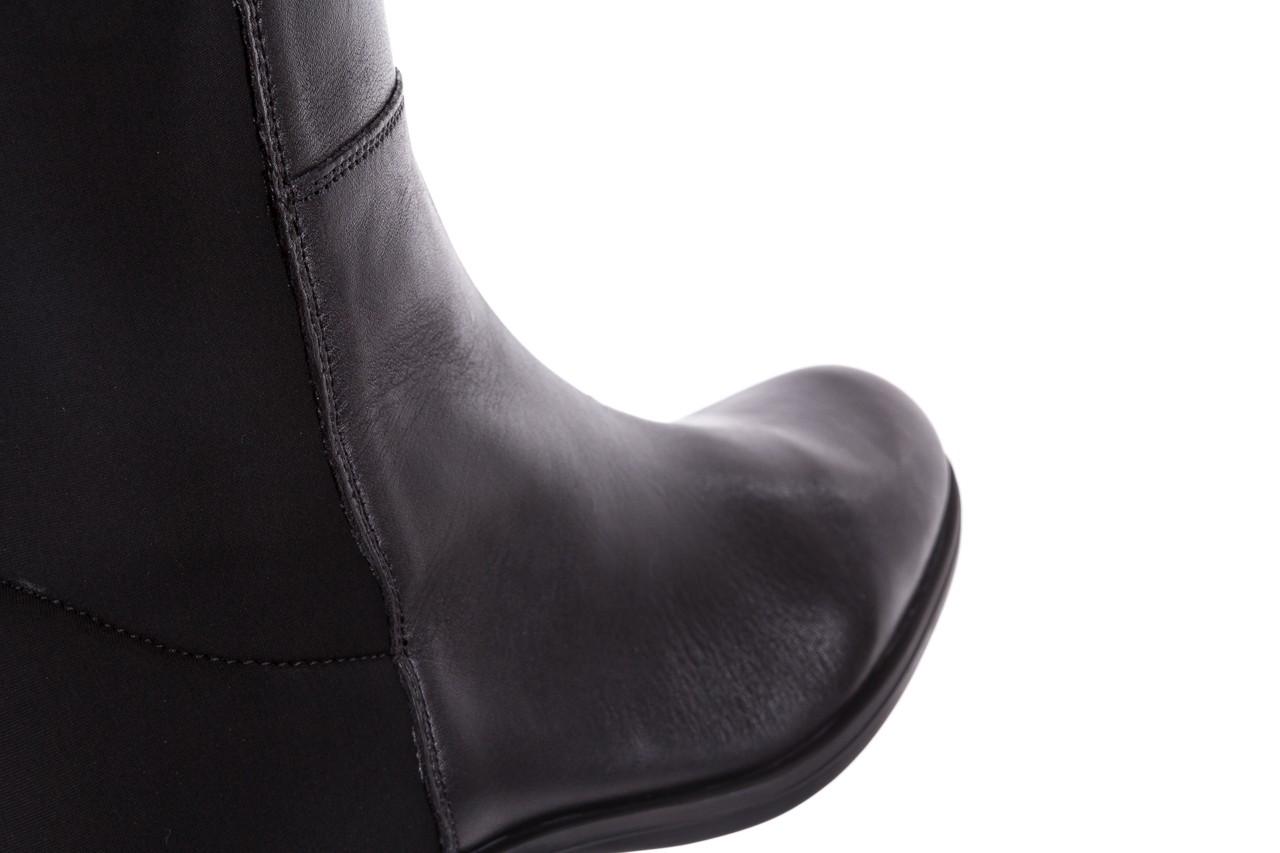 Kozaki bayla-174 mh0490 czarne lico, skóra naturalna - płaskie - kozaki - buty damskie - kobieta 16