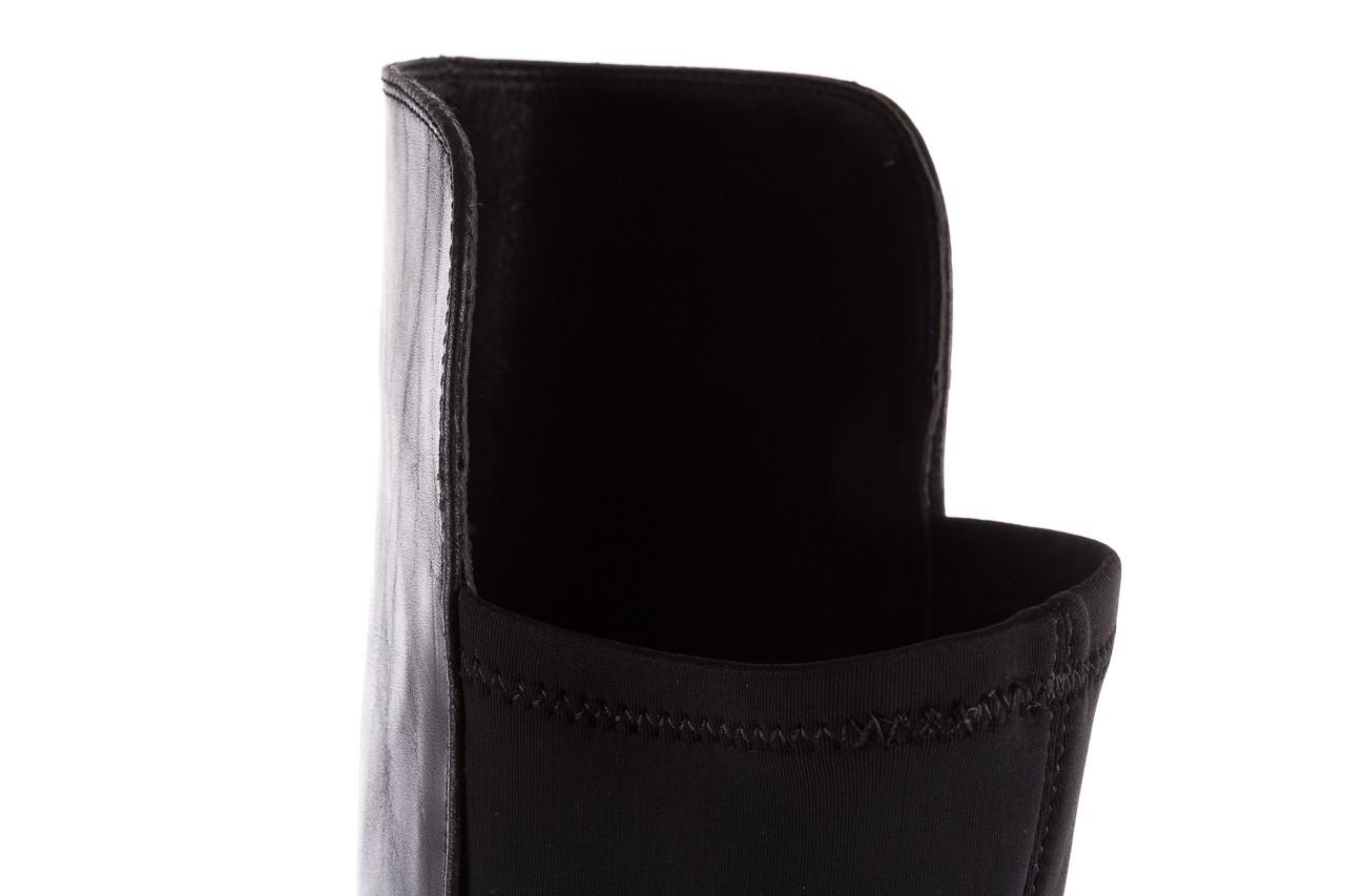 Kozaki bayla-174 mh0490 czarne lico, skóra naturalna - płaskie - kozaki - buty damskie - kobieta 18