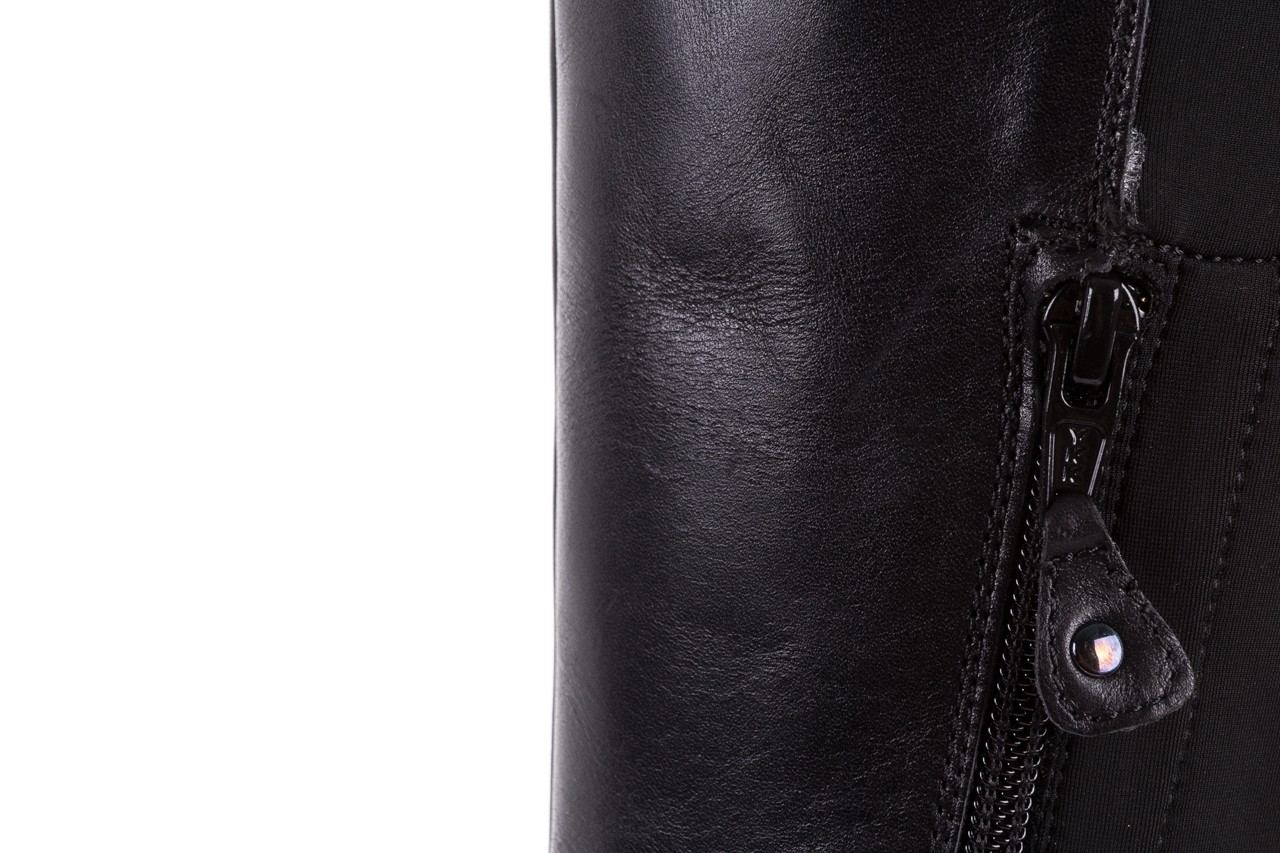 Kozaki bayla-174 mh0490 czarne lico, skóra naturalna - płaskie - kozaki - buty damskie - kobieta 19
