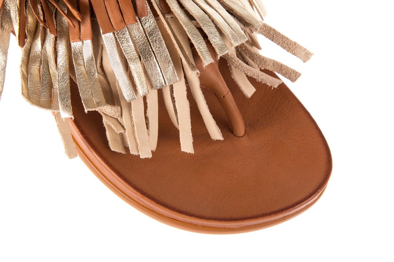 Klapki bayla-163 17-192 nr 1 coconut combi, brąz, skóra naturalna  - japonki - klapki - buty damskie - kobieta 11
