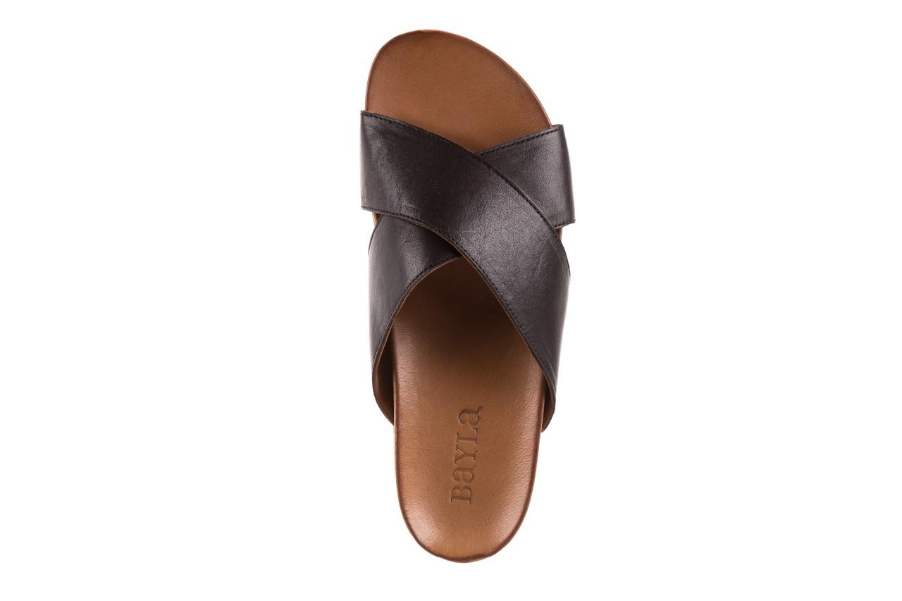 Klapki bayla-163 17-183 black, czarny, skóra naturalna  - klapki - letnie hity cenowe 10