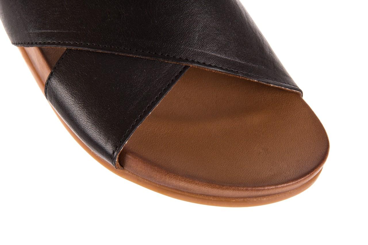 Klapki bayla-163 17-183 black, czarny, skóra naturalna  - klapki - letnie hity cenowe 11
