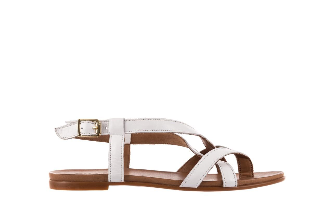 Sandały bayla-163 17-131 riga, biały/brąz, skóra naturalna  - japonki - sandały - buty damskie - kobieta 7