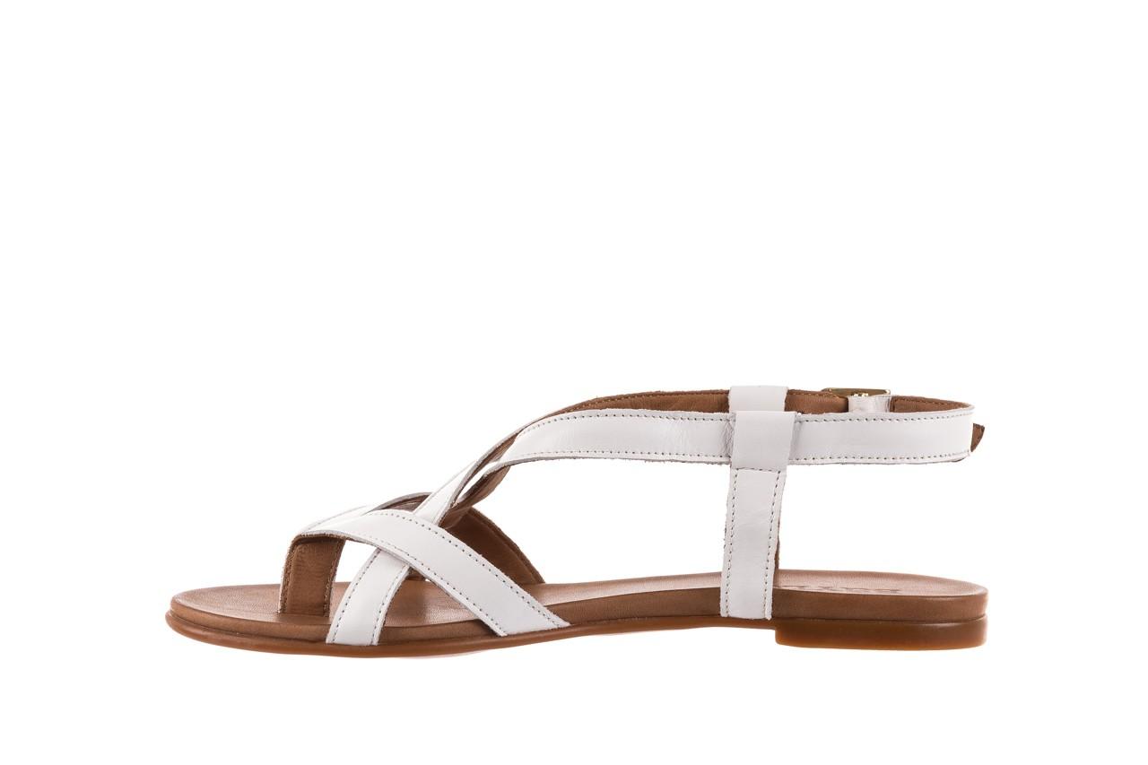 Sandały bayla-163 17-131 riga, biały/brąz, skóra naturalna  - japonki - sandały - buty damskie - kobieta 9