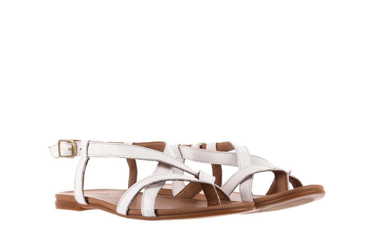 Sandały bayla-163 17-131 riga, biały/brąz, skóra naturalna  - japonki - sandały - buty damskie - kobieta 8