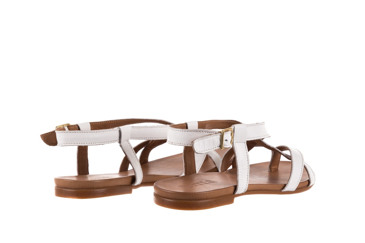 Sandały bayla-163 17-131 riga, biały/brąz, skóra naturalna  - japonki - sandały - buty damskie - kobieta 10