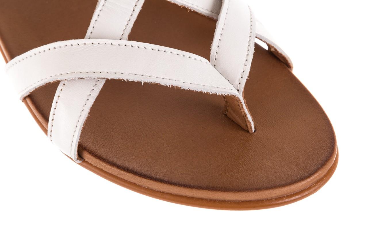 Sandały bayla-163 17-131 riga, biały/brąz, skóra naturalna  - japonki - sandały - buty damskie - kobieta 12