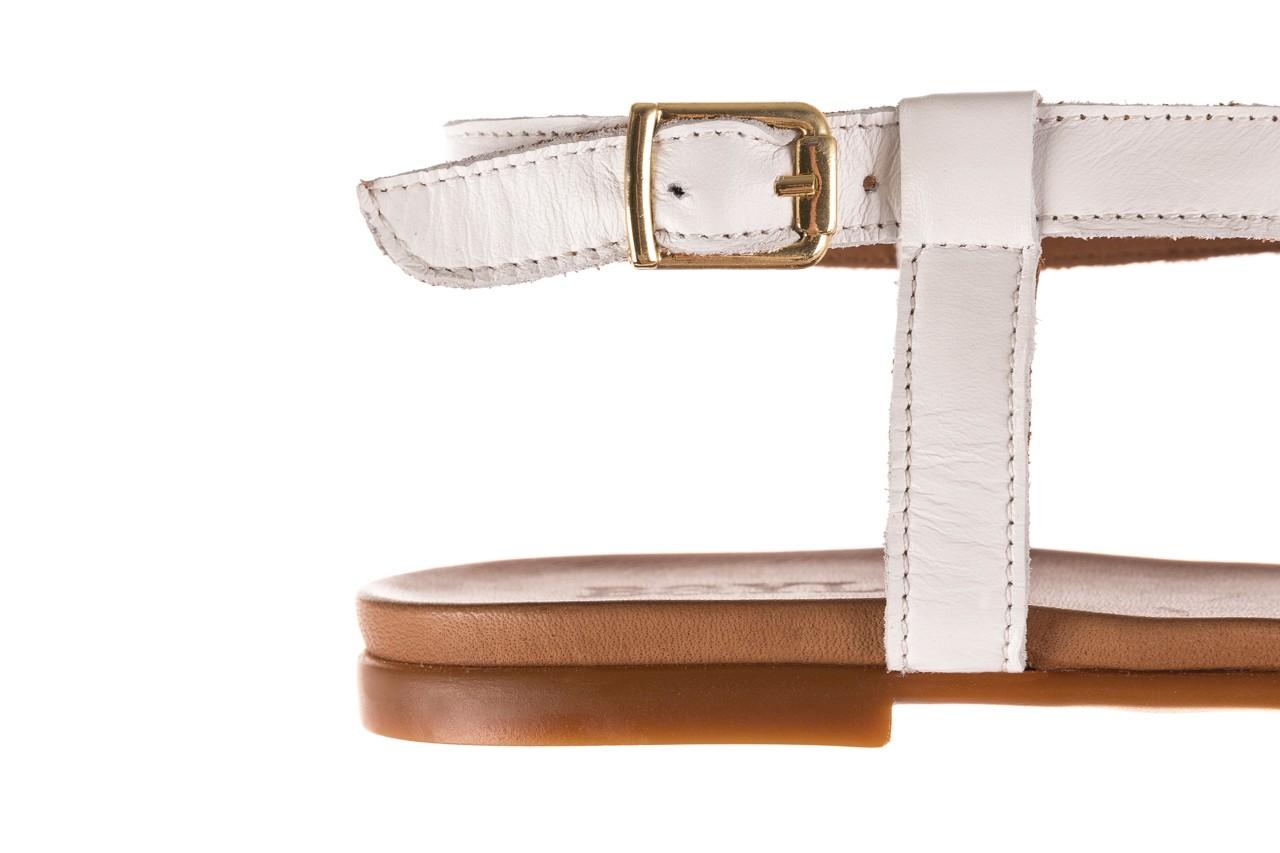 Sandały bayla-163 17-131 riga, biały/brąz, skóra naturalna  - japonki - sandały - buty damskie - kobieta 13