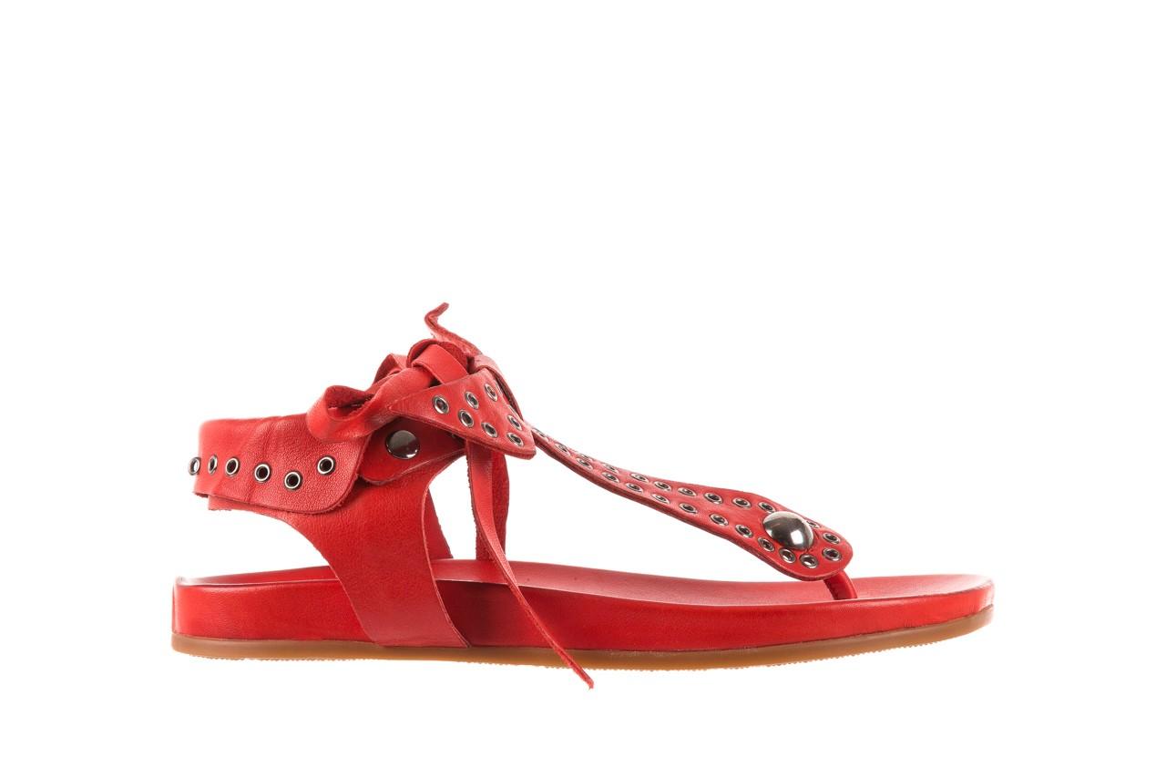 Sandały bayla-163 17-178 red, czerwony, skóra naturalna  - japonki - sandały - buty damskie - kobieta 7