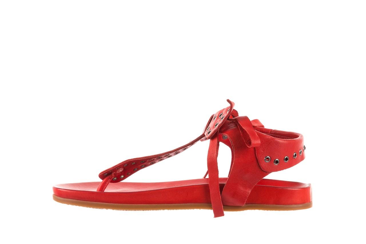 Sandały bayla-163 17-178 red, czerwony, skóra naturalna  - japonki - sandały - buty damskie - kobieta 9