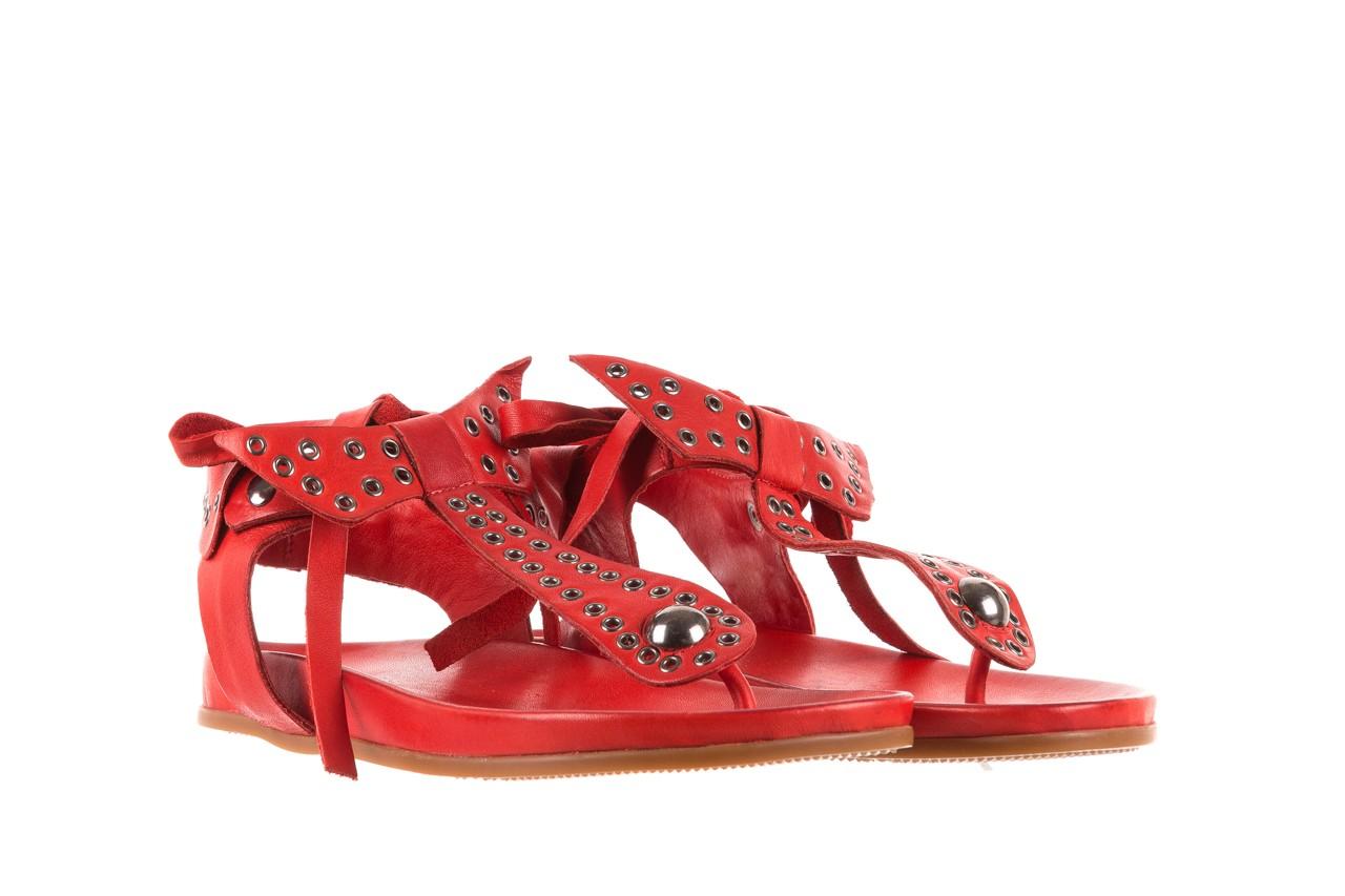 Sandały bayla-163 17-178 red, czerwony, skóra naturalna  - japonki - sandały - buty damskie - kobieta 8