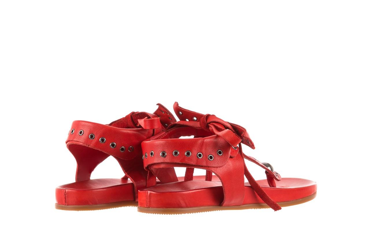 Sandały bayla-163 17-178 red, czerwony, skóra naturalna  - japonki - sandały - buty damskie - kobieta 10